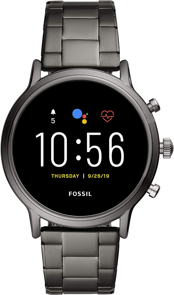 FOSSIL Gen 5 Smartwatch The Carlyle HR Smoke Stainless Steel FTW4024
