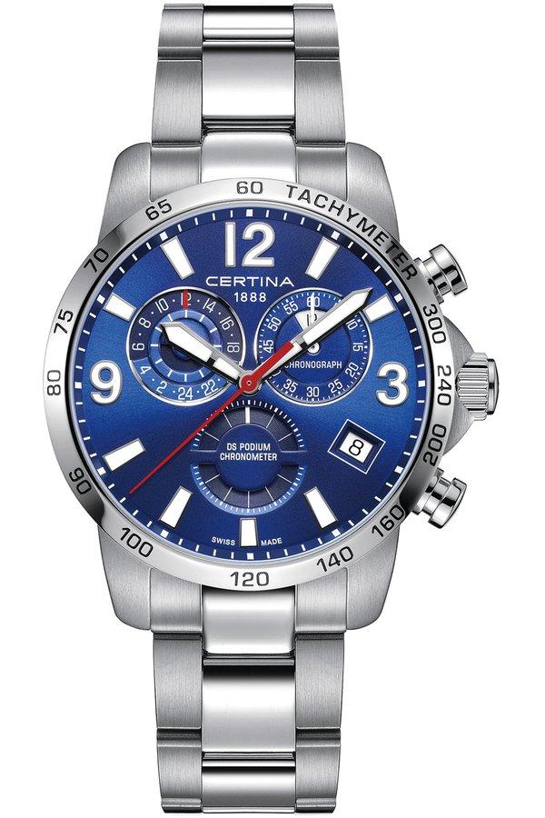 Hodinky s chronografom a tachymetrom CERTINA DS PODIUM CHRONO GMT COSC C034.654.11.047.00