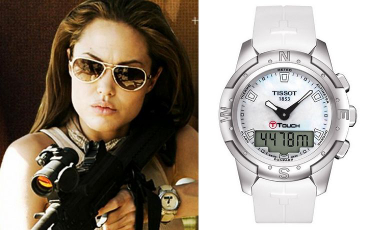 Angelina Jolie egy Tissot órával